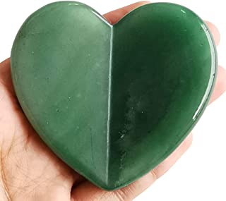 Loveliome Crystal Jade Scraping Facial Tools, Heart Love Guasha Stone Massage Board for SPA Acupuncture Therapy Trigger Po...