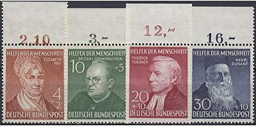 Goldhahn BRD Bund Nr. 156-159 postfrisch  Wohlfahrt 1952  Oberrandsatz Briefmarken für Sammler