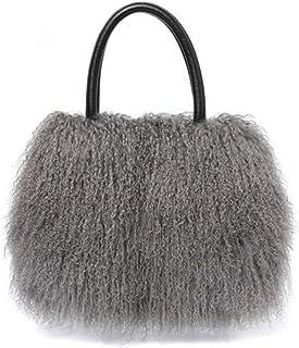 Damen Wolle Handtasche Schultertasche Große Tote Tasche Top Griff Satchel Geldbörsen Winter