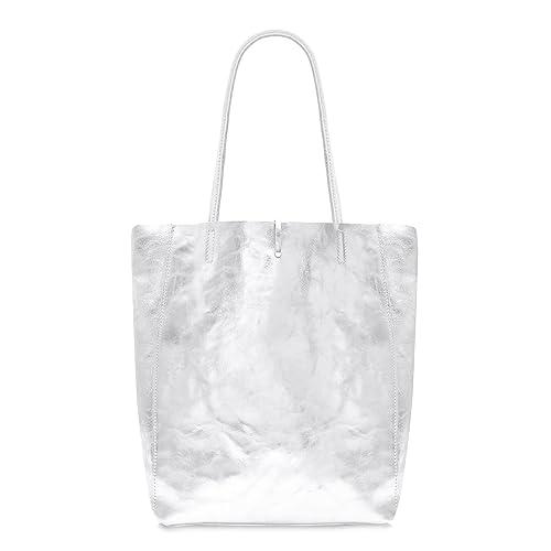 Silver Leather Bag  Amazon.co.uk