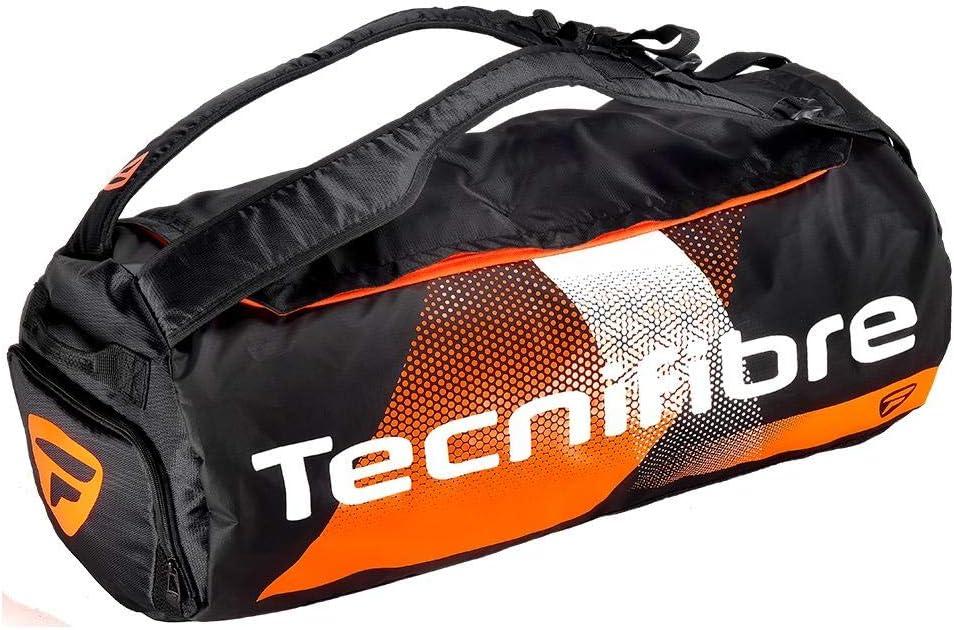 Tecnifibre Air Endurance RACKPACK - Bolsa de Tenis Unisex, Negro y Naranja, para 4 Raquetas