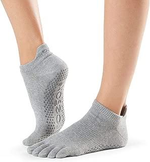ToeSox Women's Low Rise Full Toe Grip Non-Slip for Ballet, Yoga, Pilates, Barre Toe Socks