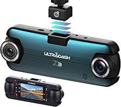 UltraDash Dash Cam, Telephoto Zoom-in + Wide Angle Lens, Dual Full HD 1080P@30fps, Magnetic GPS Charging Mount, HDR High-e...