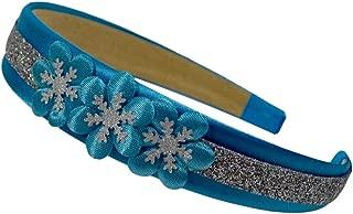 Frozen Princess Inspired Sparkling Satin Flower Headband (Snow Queen Inspired)
