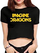 TLK Custom Women Imagine Dragons Rock Band Midriff Tshirts