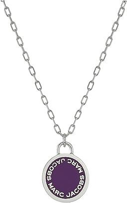 Marc Jacobs - Logo Disc Enamel Logo Disc Pendant Necklace