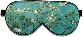 ALASKA BEAR Natural silk sleep mask & blindfold, super-smooth eye mask (One Strap, Blossom Almond)