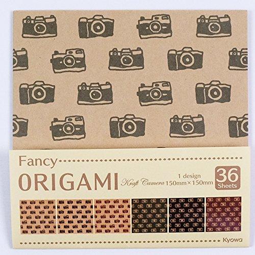 Origamipapier Fancy Origami Kraft Camera 15 cm
