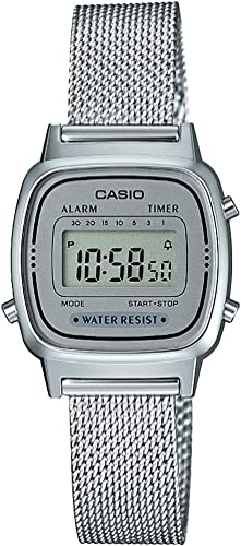 Casio - Montre Casio Collection Maille milanaise argentée (la670wem-7ef)