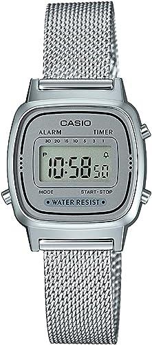 Casio - Montre Casio Collection Maille milanaise argentée (la670wem-7ef)