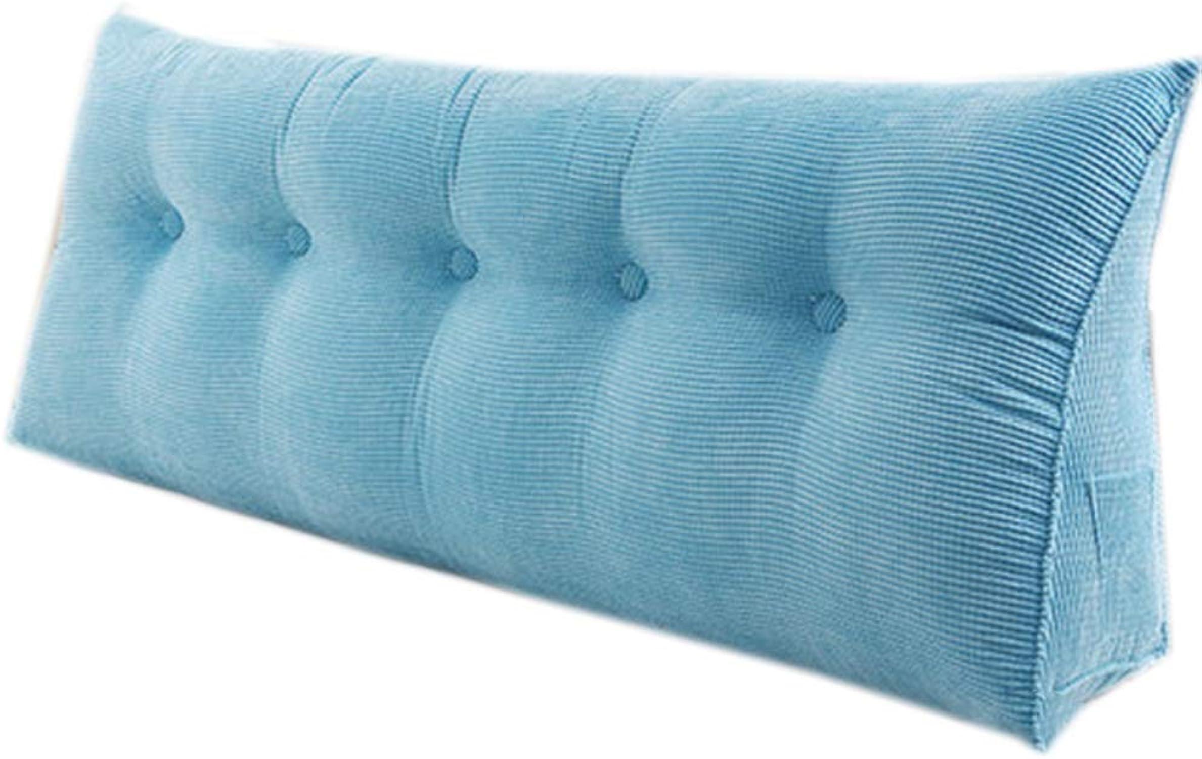 JYW-kaodian Tête De Lit Coussin Wedge PilFaible Housses De Coussins Oreiller,Lit Double Triangle lit Double Coin de lit Moderne détachable,bleu,180  23  50cm