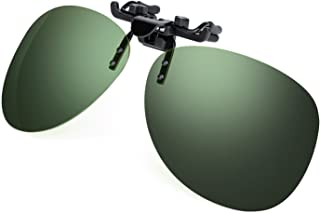 Costyle 黑色*偏光夹式翻转塑料太阳镜适用于近视眼镜户外驾驶钓鱼