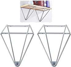 2 stks Drijvende plank - DIY plank Driehoekig ontwerp - industriële vintage plank beugels, smeedijzeren muurplank, aangepa...