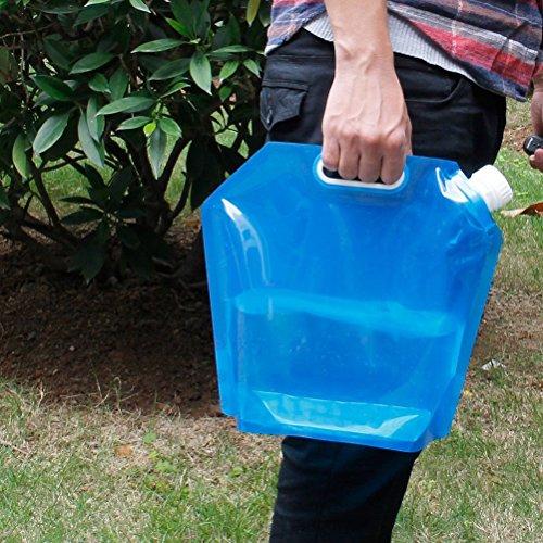 WINOMO 10L faltbare Trinkwasser Wasser-Container Aufbewahrungstasche (blau)