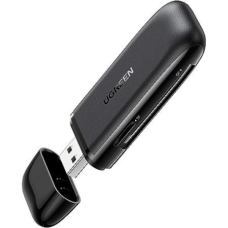 UGREEN USB3.0 高速カードリーダー 3-in-1 SD/TF/CFカード対応 UHS-I MicroSD USBカードリーダー Window Mac Linux対応 カード3枚同時読み書き可能 コードなし 蓋付き