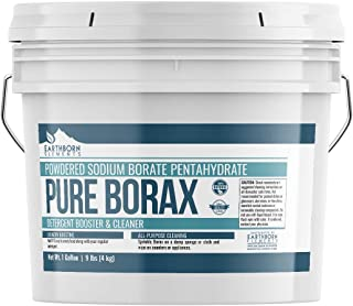 Borax Powder (1 Gallon (9 Lbs.)) by Earthborn Elements, Resealable Bucket, All-Natural Multipurpose Cleaner, Detergent Booster, and Slime Ingredient