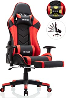 OHAHO Gaming Chair Racing Style Office Chair Adjustable Massage Lumbar Cushion Swivel..