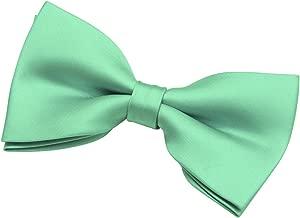 Retreez Men's Solid Plain Color Woven Microfiber Pre-tied Bow Tie (5