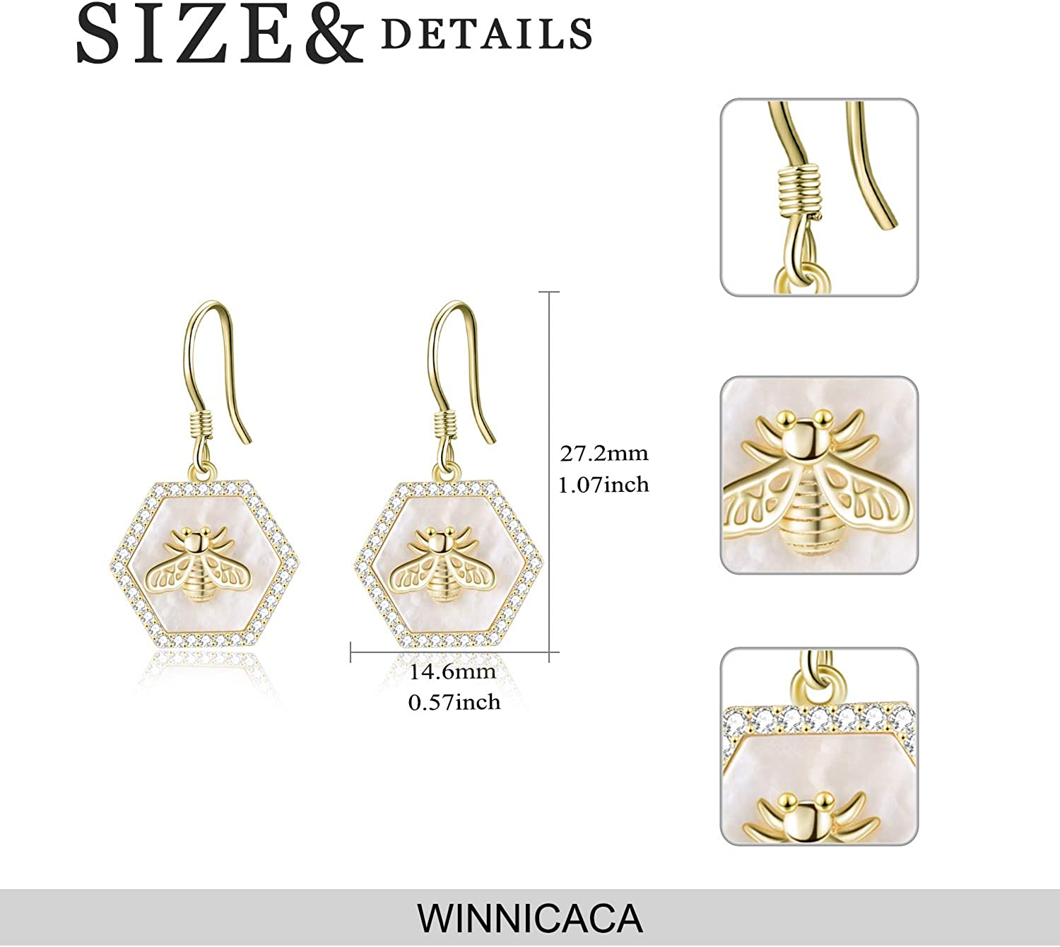 WINNICACA Bee Jewellery Sunflower Pendant S925 Sterling Silver Charms Choker Necklace for Women Gifts