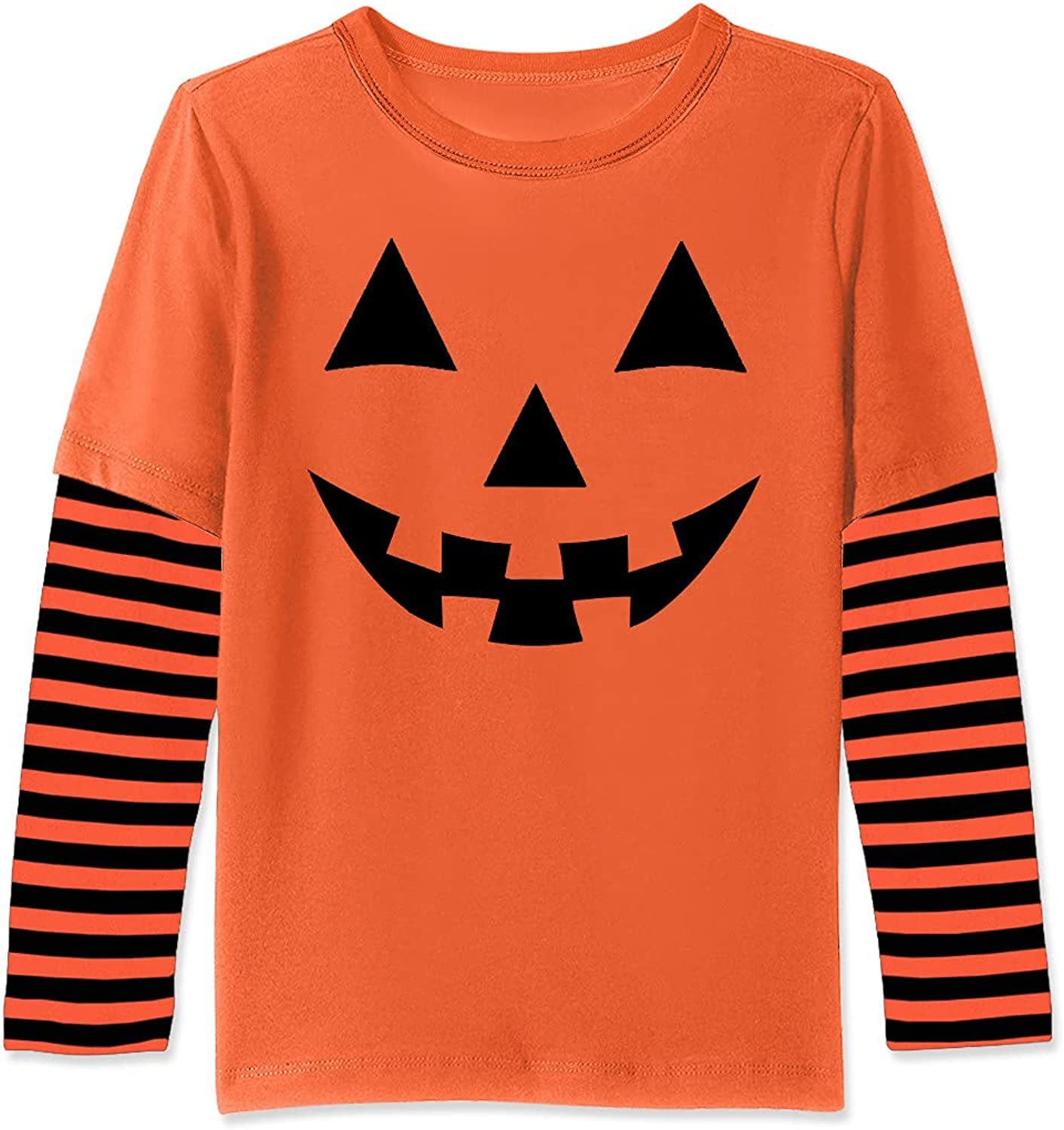 Max 58% OFF BesserBay Unisex Kids Halloween Stripe Shi Patchwork Ranking integrated 1st place Sleeve Long