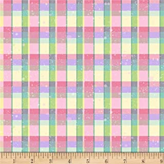Blank Quilting Hoppy Easter Plaid Yellow, Fabric by the Yard
