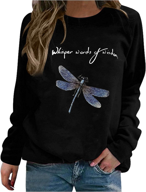 ONHUON Sweatshirts for Women, Womens Graphic Casual Loose Fall Long Sleeve Tunic Tops Sweatshirt Pullover Shirts Blouses