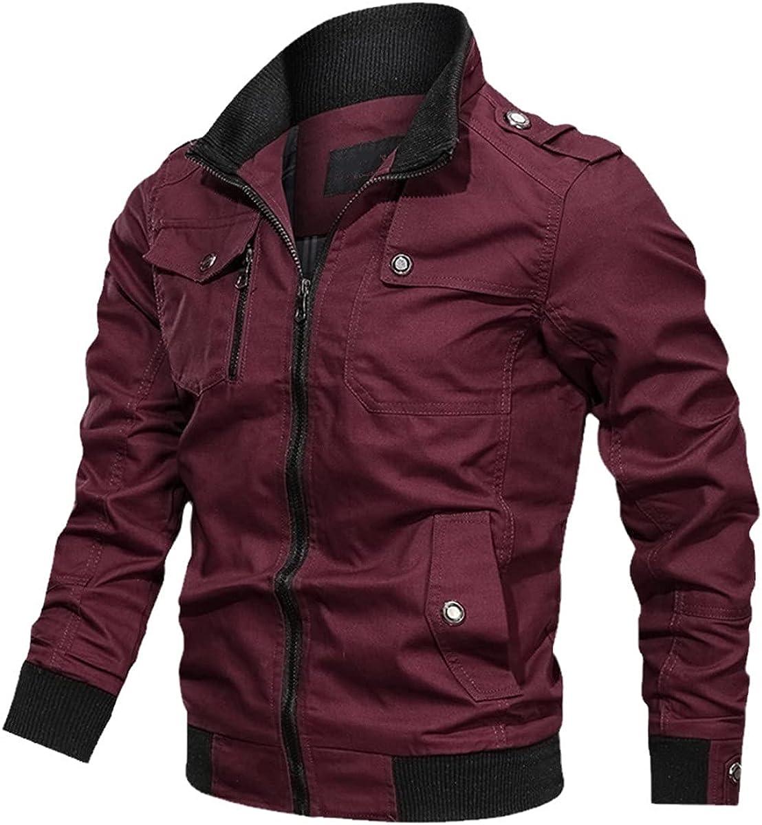 Military Jacket Men's Spring And Autumn Cotton Windbreaker Men's Bomber Jacket Cargo Jacket