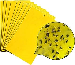 Sticky Insect Board 10 Pcs Catcher Sticky Board Yellow Sticky Fly Traps,yellow Sticky Traps Mosquito Glue Board Sticky Fly...