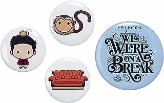 The Carat Shop - Juego de insignias de botón de Ross oficial de los amigos