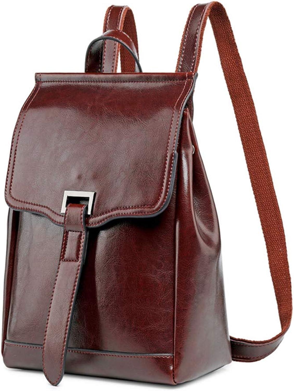 Kofun Rucksack für Damen, Damen, Damen, echtes Leder, Reiserucksack, Handtasche, Schulranzen - Coffee B07Q1PH6S7  Produktqualität 742503