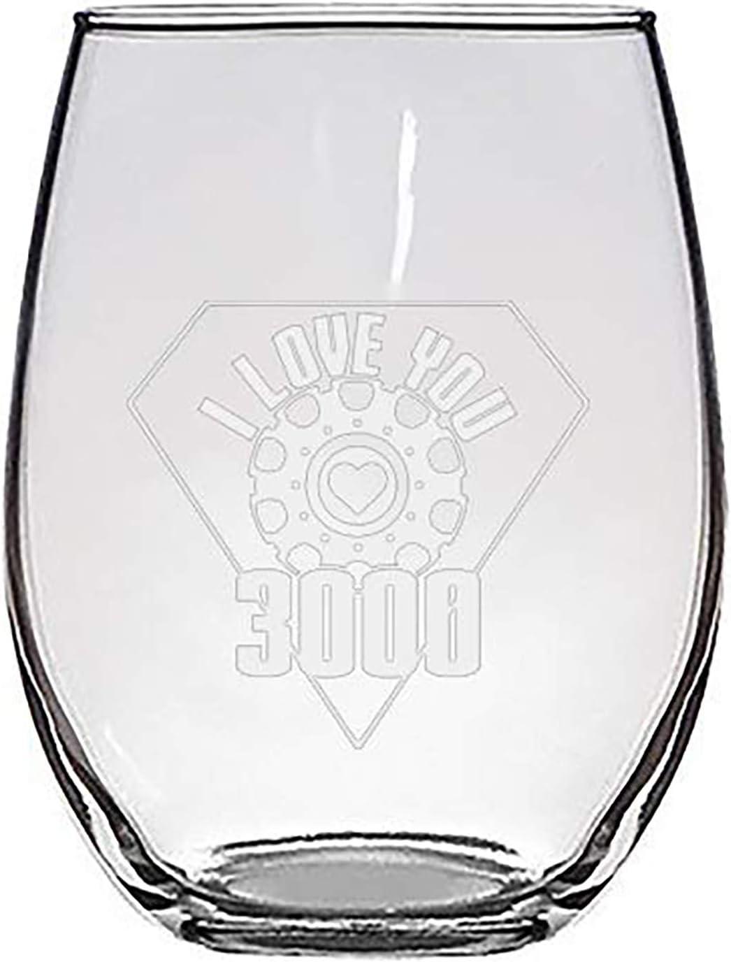 I San Diego Mall Love You 5 ☆ very popular 3000 Metal Heart - Engraved Parody Laser Reactor Film