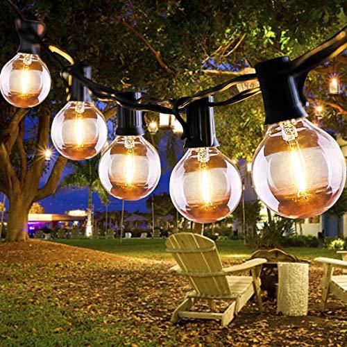 Lichterkette Außen FOCHEA Lichterkette Glühbirnen G40 6.8m 16er Globe LED Birnen Lichterkette Garten IP44 Wasserdichte für Weihnachten Hochzeit Party Aussen Dekoration Warmweiß