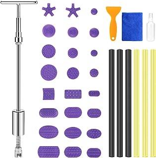 BBKANG 35pcs Paintless Dent Repair Puller Kit, Dent Repair Slide Hammer T-Bar Tool with 28pcs Dent Removal Pulling Tabs for Car Dent Door Ding Hail Damage Relieble Tool