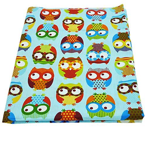 50cm * 150cm/Stück Cute Eule bunt Bedruckte Stoff aus 100% Baumwolle für Baby Betten Textil Patchwork Quilt Nähen Stoff Material