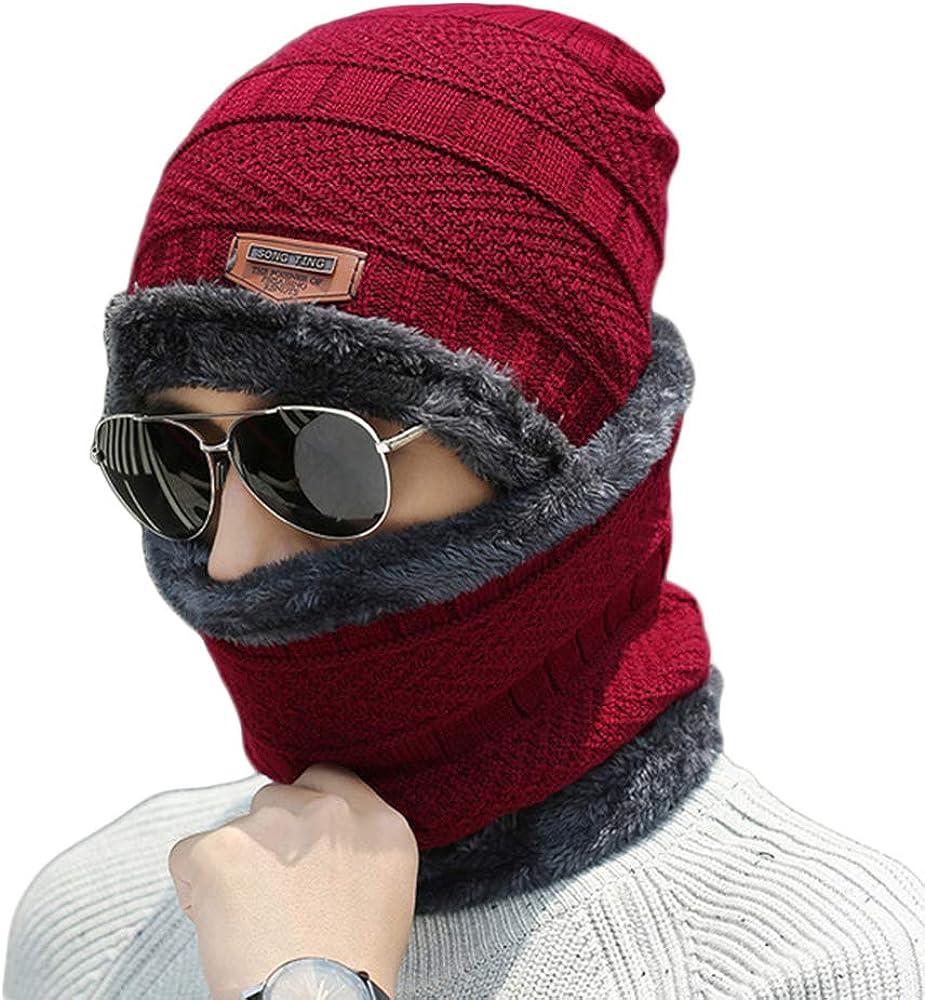 Men's Women Warm Winter Tucson Mall Beanie 2-Pieces Sku Set Scarf Gorgeous Knit Hat