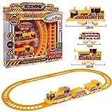 YUY Run Train Set Toy Railway Set Rail Track Toy Coche Eléctrico De Juguete con Coche De Dibujos Animados Y Robots Inalámbricos para Niños Pequeños Regalo,A