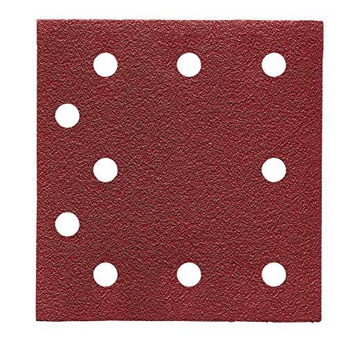 AEG Schleifblätter K60 für Schwingschleifer 115 x 107 mm, 10-Loch, Lieferumfang 10 Stück 10 Stk