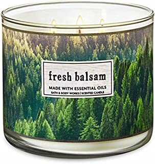 Bath and Body Works 3 Wick Scented Candle Fresh Balsam 14.5 Ounce