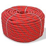 Festnight Cuerda Marina - Color de Rojo Material de Polipropileno, 12mm x 50m