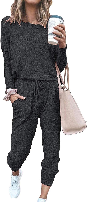 Fixmatti Women Casual 2 Piece Outfit Long Pant Set Sweatsuits Tracksuits