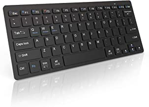 SMIAOER Wireless Keyboard Slim Keyboard Portable Bluetooth Keyboard,Fast Connect and BLE Multi Device Keyboard for iPads, iPhones and Bluetooth-Enabled Tablets, Laptops, and Mobile Phones,Black