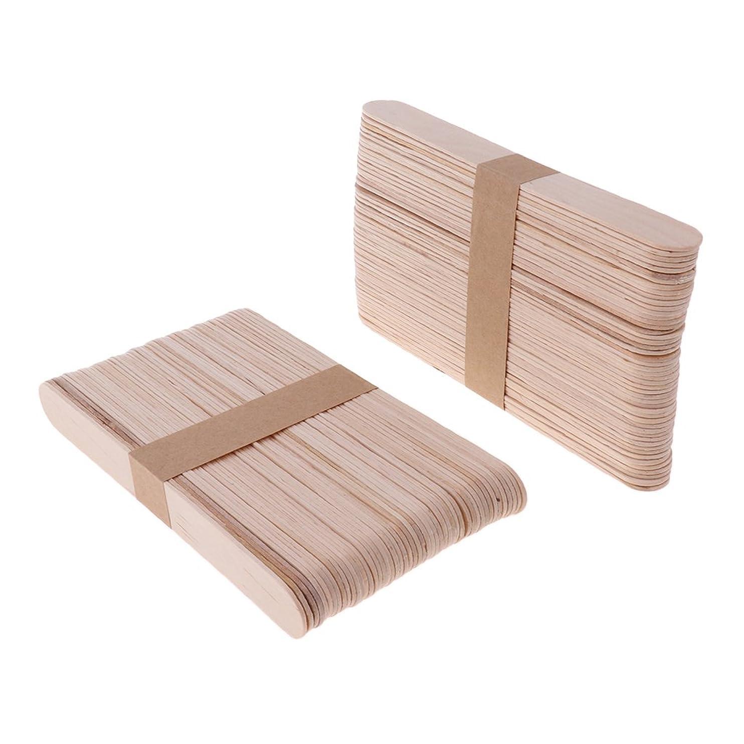 コーラスボルトバースト木材スティック 脱毛 ワックス用 体毛除去 ウッド ワックススパチュラ 便利 200個 2サイズ - L