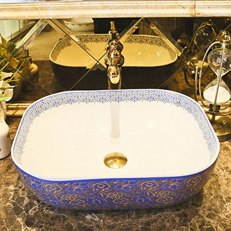 GAOLI Waschbecken Im Bad Aufsatzwaschbecken Waschtisch Im Europischen Stil Waschbecken Im Keramikstil Waschbecken