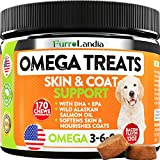 Omega 3 for Dogs - Allergy & Itch Relief Dog Shedding - Wild Alaskan Salmon Oil with Omega 3 6 9 for Dogs - Epa & Dha Fatty Acids - Fish Oil for Dogs Healthy Skin & Coat - 170 Chews