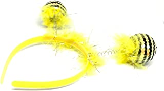 Albertino Pom-Pom Antenna Boppers Bee Costume Headband