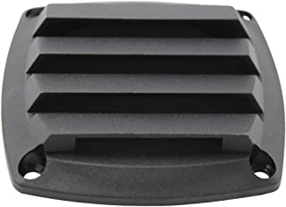 Homyl Plastic Boat Hose Intake Vent Louvered Vents 3 inch Ventilation Cover for Marine Boats Hull - Black