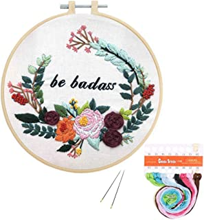 Louise Maelys Embroidery Kit Funny for Beginner Flowers Pattern Cross Stitch Adults..