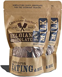 Milk Chocolate 34% Cocoa Content — Chopped for Snacking or Melting