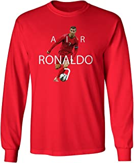 SMARTZONE RED Cristiano Ronaldo Portugal AIR Soccer Men's Long Sleeve T-Shirt