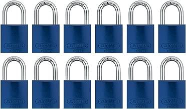 ABUS 72/40 铝制*锁 蓝色钥匙扣 - 12 个装